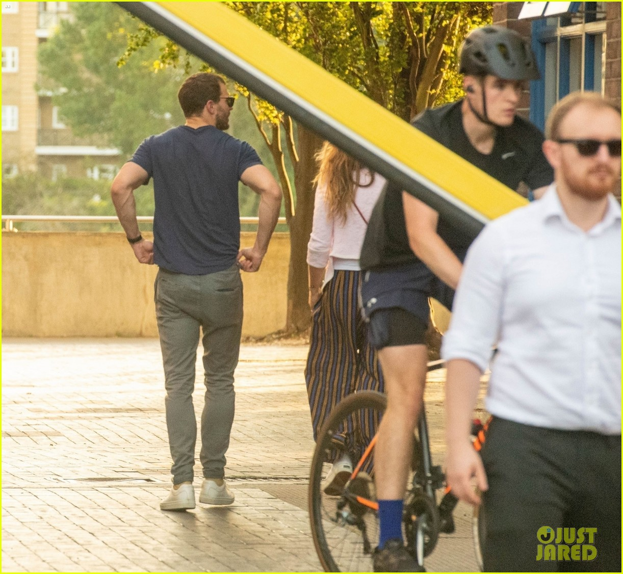 jamie dornan out and about with wife amelia warner 034603582