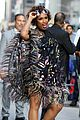 jennifer hudson stuns in multi colored feather dress 03