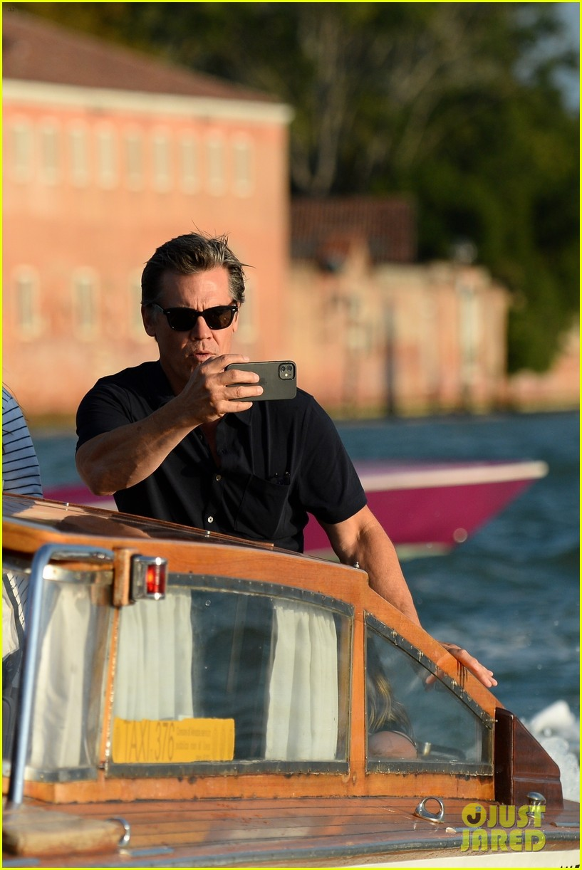 josh brolin boards water taxi to sightsee in venice 054617250
