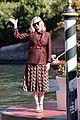 kirsten dunst ferragamo look arrival venice 37
