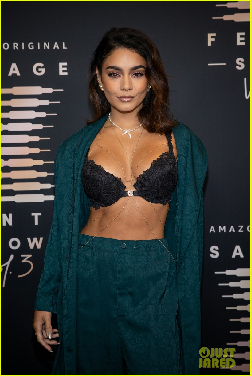 vanessa hudgens wears black lace bra to rihanna savage x fenty show 024629325
