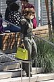 jennifer lopez lime green purse dance studio stop 01