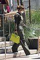 jennifer lopez lime green purse dance studio stop 10