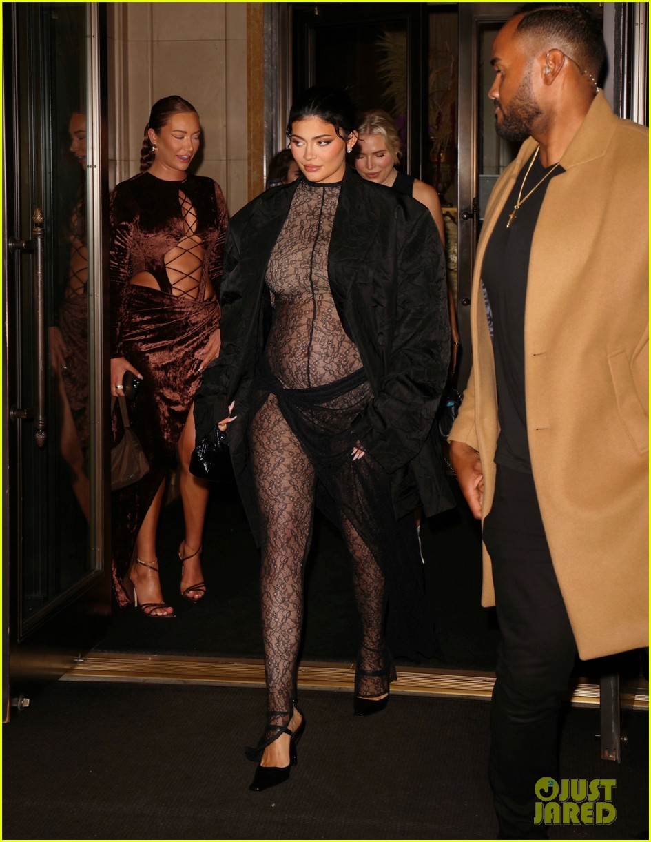 kylie jenner wears completely sheer outfit pregnant 104618496