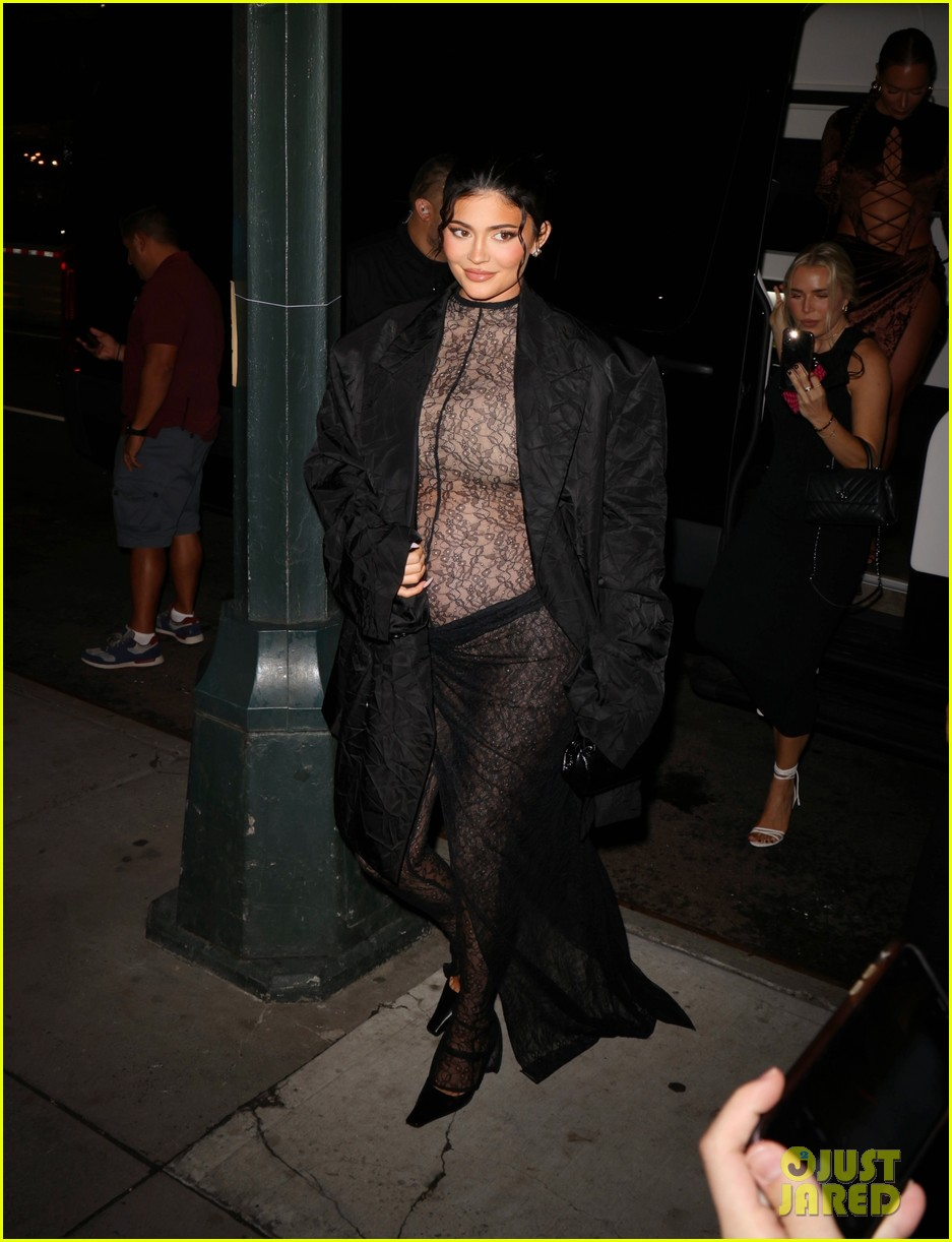 kylie jenner wears completely sheer outfit pregnant 194618505