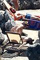 chris pine toned back muscles works on tan amalfi coast italy 01