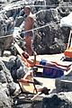 chris pine toned back muscles works on tan amalfi coast italy 15