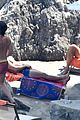 chris pine toned back muscles works on tan amalfi coast italy 20
