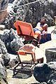chris pine toned back muscles works on tan amalfi coast italy 36