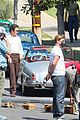 miles teller juno temple get into character filming the offer 26