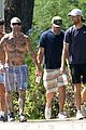 adam levine goes shirtless walk in hawaii 02