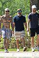 adam levine goes shirtless walk in hawaii 04