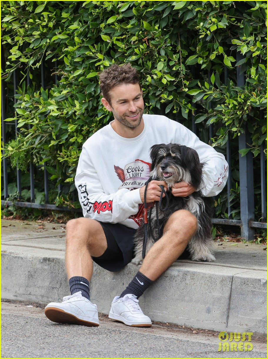 chace crawford morning walk with dog shiner 034643736