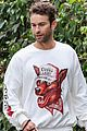 chace crawford morning walk with dog shiner 06