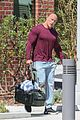 dwayne johnson heads home after morning workout 01