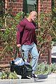 dwayne johnson heads home after morning workout 03