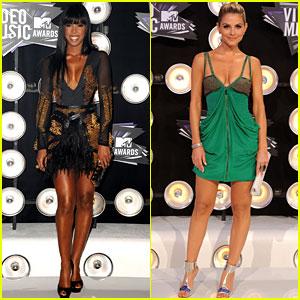 Kelly Rowland & Maria Menounos - MTV VMAs 2011 Red Carpet
