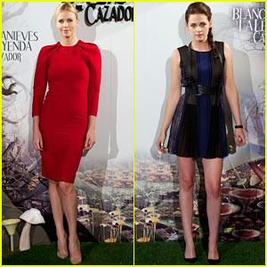 Charlize Theron & Kristen Stewart: 'Snow White' in Madrid!