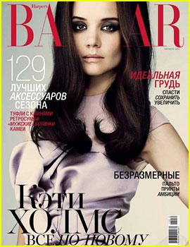 Katie Holmes Covers 'Harper's Bazaar Russia' October 2012