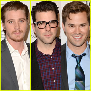 Garrett Hedlund & Zachary Quinto: Details Hollywood Mavericks Party!