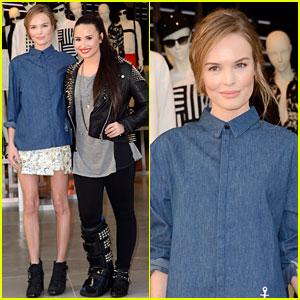 Kate Bosworth & Demi Lovato: Topshop Grand Opening!