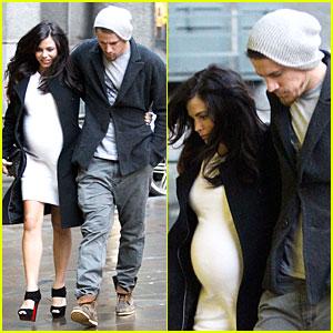 Channing Tatum & Pregnant Jenna Dewan: White Baby Bump for Dinner!