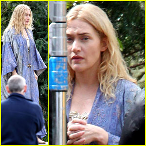 Kate Winslet: Raggedy Robes on 'A Little Chaos' Set