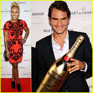 Roger Federer & Emeli Sande: Moet & Chandon Anniversary!