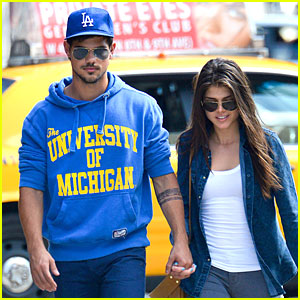 Taylor Lautner & Marie Avgeropoulos: Romantic Walk in NYC!