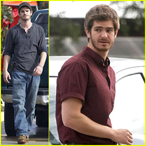 Andrew Garfield: '99 Homes' Set with Michael Shannon!