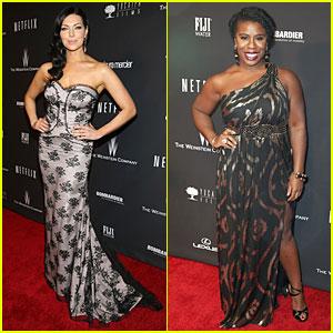 Laura Prepon & Uzo Aduba - Weinstein Golden Globes Party 2014