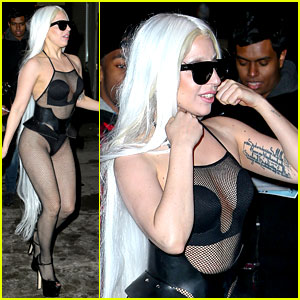 Lady Gaga Wears Almost Nothing in Freezing Cold New York