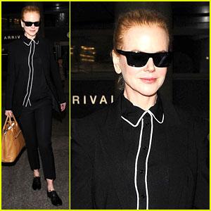 Nicole Kidman Flies Into Los Angeles for Oscars Weekend!
