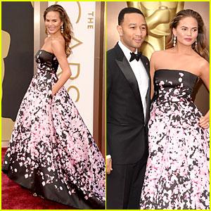 Chrissy Teigen & John Legend - Oscars 2014 Red Carpet