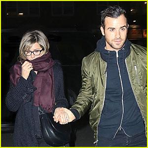 Jennifer Aniston & Justin Theroux Hold Hands on Romantic NYC Night!