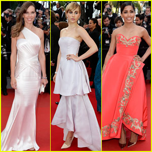Hilary Swank Stuns at 'The Homesman' Cannes Photo Call & Premiere!