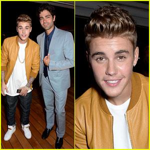 Justin Bieber Drops the 'Entourage' While Meeting Adrian Grenier