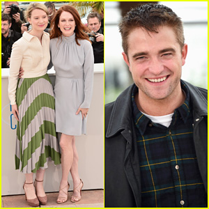 Robert Pattinson Joins Julianne Moore & Mia Wasikowska at Cannes 'Maps to the Stars' Photo Call!