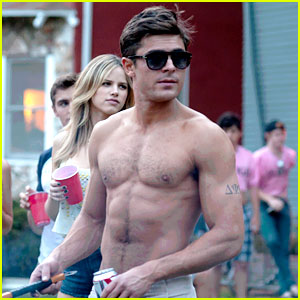 Shirtless Zac Efron Is Taking Over Movie Theaters in 'Neighbors'!