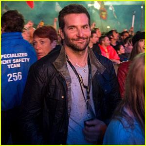 Bradley Cooper Attends Glastonbury Sans Suki Waterhouse