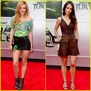 Bella Thorne Rocks Retro 'Teenage Mutant Ninja Turtles' T-Shirt at the Movie's Premiere!