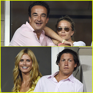 Mary-Kate Olsen & Heidi Klum Bring Their Significant Others to US Open!