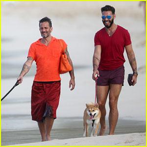 Marc Jacobs & Lorenzo Martone Take a Stroll Together on the Beach