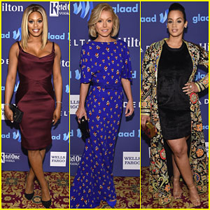 Laverne Cox is a Vision in Purple at GLAAD Media Awards 2015