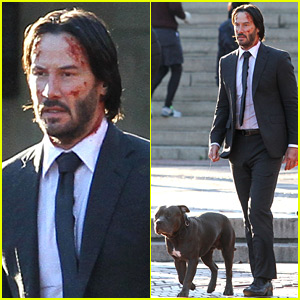 Keanu Reeves Begins Filming 'John Wick 2' Looking All Bloody!