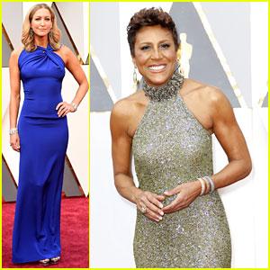 Robin Roberts & Lara Spencer Host ABC's Pre-Oscars Show