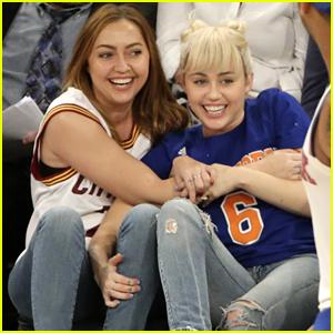 Miley Cyrus Wears Shiny New Engagement Ring At NY Knicks Game