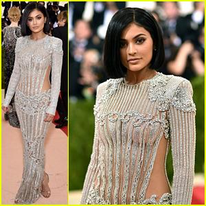 Kylie Jenner's Met Gala 2016 Dress Is Sheer & Shimmering!