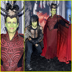 Jamie Lee Curtis & Son Thomas Cosplay as Orcs at 'Warcraft' Premiere!