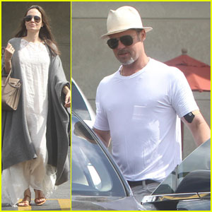 Angelina Jolie & Brad Pitt Make Rare Appearance Together for Fourth of July Grocery Run